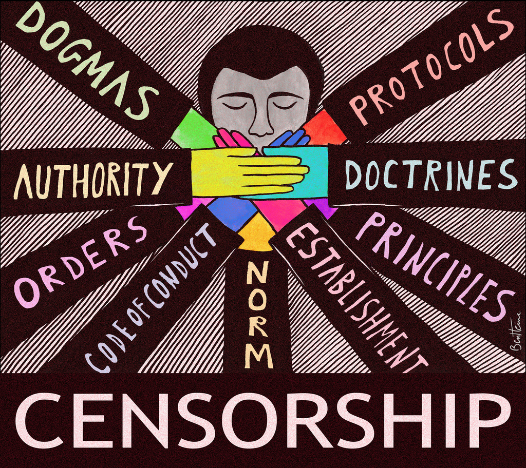 Censorship by Ben Heine