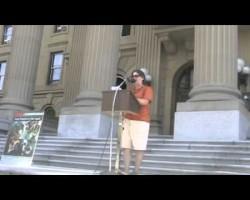 Paula Kirman of IJV Alberta speaks at Al Quds rally 8.1.2013