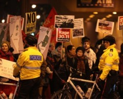 Widespread media coverage of protest against Harper and the Jewish National Fund