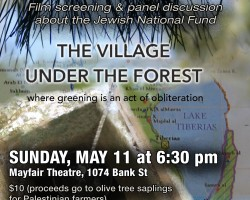 Canadian Première of 'The Village Under the Forest' and panel discussion on the Jewish National Fund