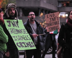 "The Charlatan: JNF protested for ""ethnic cleansing"""