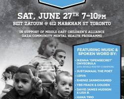 "IJV Canada presents ""Gaza – spoken songs for the silent"""