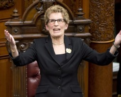 You won't Wynne our vote supporting Israel's crimes