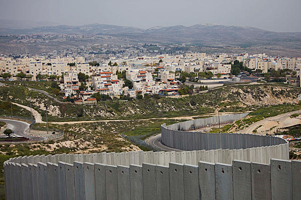 Illegal Israeli settlement being effectively annexed by Israel through its illegal Separation barrier.