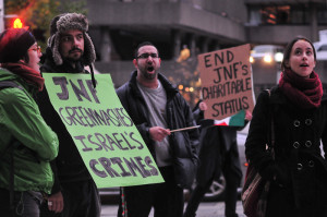 Protest against the Jewish National Fund in Ottawa, October 2014