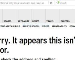 Postmedia giant deletes its Editorial libeling IJV