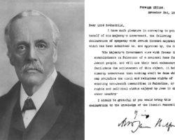 La Déclaration Balfour : contexte et conséquences